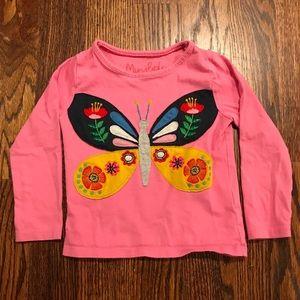 Boden Shirts & Tops - Mini Boden Butterfly Long Sleeve Tee